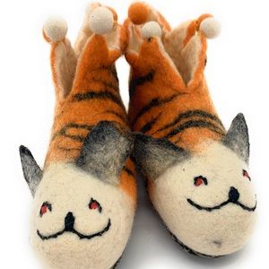 New Nepal Wool Hand Made Kids Slippers